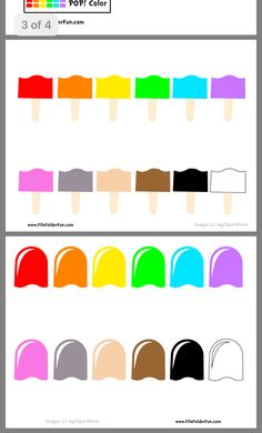 Color Activities For Toddlers, Summer Preschool Activities, Fun Worksheets For Kids, Preschool Colors, Toddler Learning Activities, Montessori Activities, Preschool Worksheets, Activities For Kids, Learning English For Kids