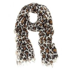 Stella McCartney Animal Print Scarf ❤ liked on Polyvore featuring accessories, scarves, stella mccartney, leopard shawl, animal print shawl, leopard scarves and brown shawl
