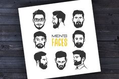 Men's faces by dobrograph on @creativemarket