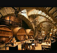 IGNFF Exclusive: Brothers Grimm Diary: Guy Hendrix Dyas Part 2 - IGN The Production Designer of Gilliam's latest continues his tour. Taverna Medieval, Home Wine Cellars, Medieval Houses, Brothers Grimm, Future House, Castle, Fantasy, Places, Wine Cellar Basement