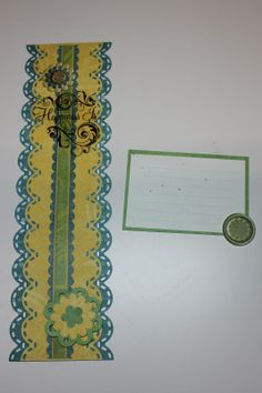 The scallop stitch bordermaker and almost everything flower punch CM made were used in this border!