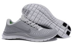 Mens Nike Free 3.0 V4 Wolf Grey Reflect Silver Pure Platinum Shoes