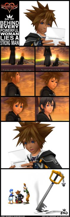 Day 357 - Sora's Reaction by goldenhearted on deviantart