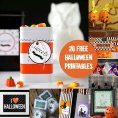 20 Fun and Free Halloween Printables - diycandy.com