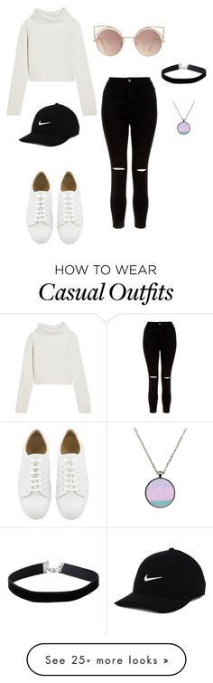 """""""casual"""" by lindaiglesias on Polyvore featuring New Look, NIKE, MANGO, Haider Ackermann and Miss Selfridge"""