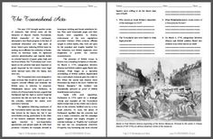 The Townshend Acts - Free Printable American History Reading with Questions for…