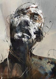 New works from Russ Mills AKA Byroglyphics abstract portrait L'art Du Portrait, Figurative Kunst, Arte Obscura, Ouvrages D'art, A Level Art, Figure Painting, Abstract Portrait Painting, Figure Drawing, Painting Art