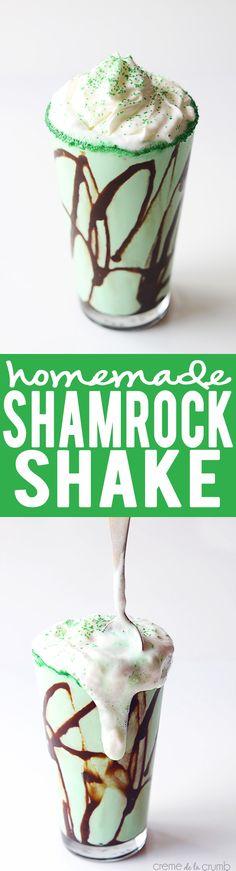 Homemade Copycat SHAMROCK SHAKE   Creme de la Crumb
