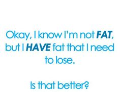 Love this. Just because your not overweight doesn't mean your on perfect condition.