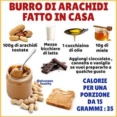 SALVA LA RICETTA 👆👆👆 . Il burro di arachidi è un ottimo alimento , ricco di proteine , fibre e grassi buoni , purtroppo non quello che… Dog Food Recipes, Dessert Recipes, Cooking Recipes, Healthy Cooking, Healthy Snacks, Eat Smart, Breakfast Cake, Light Recipes, Creative Food