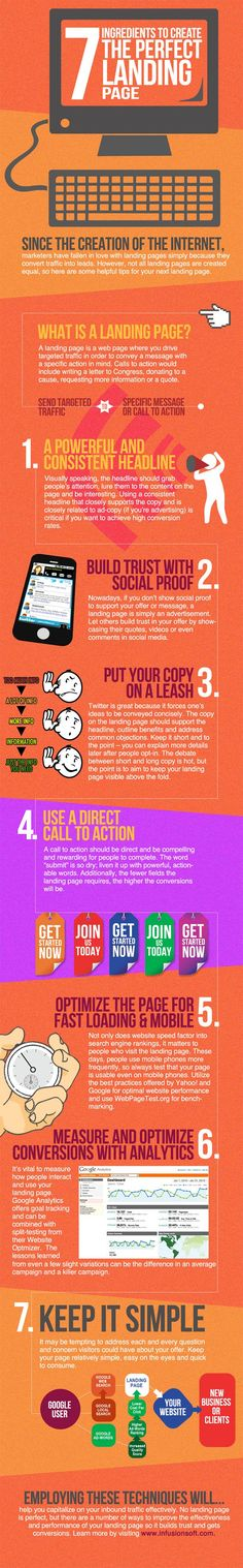7 Ingredients to Create the Perfect Landing Page => good for #PR and #StratComm pros to keep in mind as well as students for clients and projects