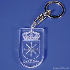 Llavero de metacrilato del escudo de Cardeña #ValleDeLosPedroches    http://delospedroches.es/es/metacrilato/167-llavero-metacrilato-escudo-ll93.html