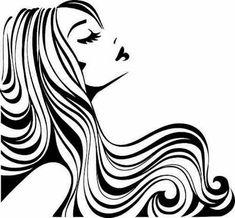 Hair Salon Decal / Hair Stylist/ Hair Studio Decals by Adsforyou Hair Vector, Vector Art, Hair Clipart, Doodle Drawing, Salon Art, Hair And Beauty Salon, Woman Silhouette, Dance Silhouette, Silhouette Vinyl