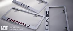 GMC Denali License Plate Frames
