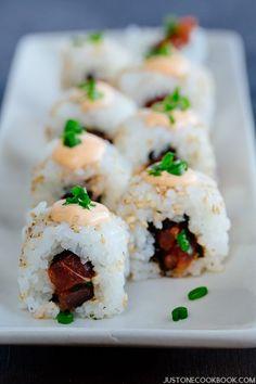 Spicy Tuna Rolls   Easy Japanese Recipes at JustOneCookbook.com