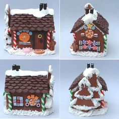 Gingerbread House - 1/12th scale by Blue Kitty Miniatures, via Flickr