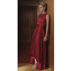 Gorgeous high necked satin gown with short by PurebyCatrionaG, $450.00