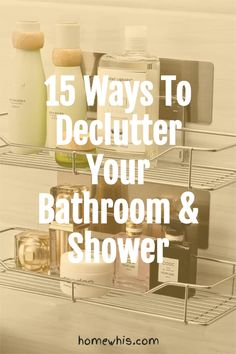 Want to wake up every morning to an organized bathroom free of clutter? Here are 15 of the best bathroom organization ideas to instantly increase storage space on the bathroom counter, cabinet and make your bathroom look more spacious. Visit our blog to be inspired by these 15 ingenious organization ideas #homewhis #bathroomorganization #storageidea #undersinkorganization #organization #declutter #counterorganization Bathroom Counter Organization, Organized Bathroom, Under Sink Organization, Home Organization Hacks, Organizing Your Home, Amazing Bathrooms, Declutter, Storage Spaces, Shower
