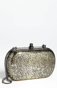 Inge Christopher Metallic Stingray Embossed Clutch available at #Nordstrom