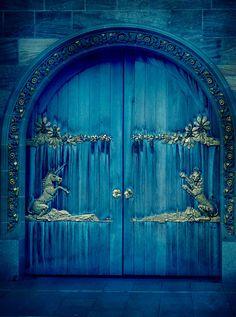 Edimburgh, unicorn door