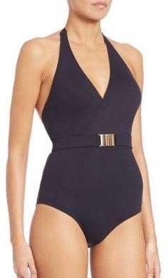 5f2f6f0c02 Melissa Odabash One-Piece Belted Halter Swimsuit #Piece#Odabash#Melissa  Melissa Odabash