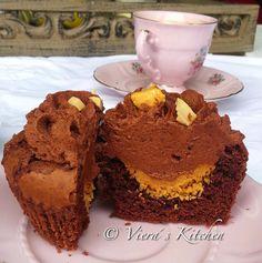Viera´s Kitchen: Erdnuss-Schoko-Cupcakes für SchokoladenFee