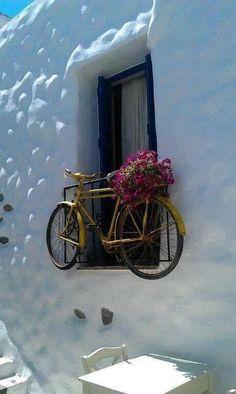Love this window box in Naxos Island-Cyclades-Greece