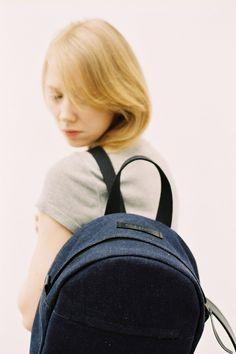 Boxy Backpack Denim Small