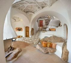 a white hobbit home . . . a modern rondavel