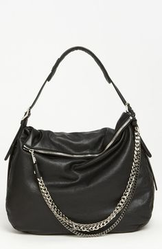 Jimmy Choo 'Boho - Large' Leather Hobo available at #Nordstrom - #only in my dreams! Lol but soooo pretty