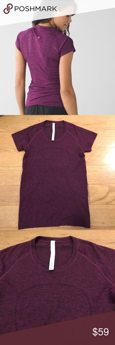 Lululemon Swiftly Tech Short Sleeve Lululemon Swiftly Tech Short Sleeve in Heathered Raspberry. -Size 10 -Like new condition. Never worn.  NO Trades. Please make all offers through offer button. lululemon athletica Tops Tees - Short Sleeve