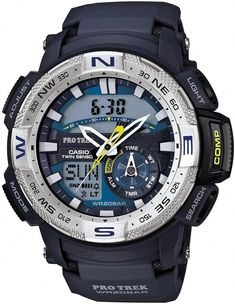 Casio Protrek Watches - Designed for Durability. Casio Protrek - Developed for Toughness Forget technicalities for a while. Let's eye a few of the finest things about the Casio Pro-Trek. Casio Protrek, Stylish Watches, Luxury Watches, Sport Watches, Watches For Men, Men's Watches, Watches Online, Radio Controlled Watches, Casio Vintage