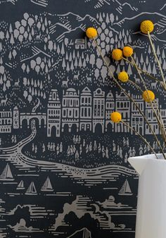 Black Wallpaper: <em>15 Stylish Patterns for 2016</em> | Apartment Therapy