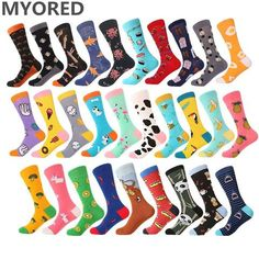 Hss Colorful Cotton Mens Socks Pug Dog Pattern Funny Socks Hip Hop Men Socks Crew For Male Wedding Birthday Party Gifts Underwear & Sleepwears
