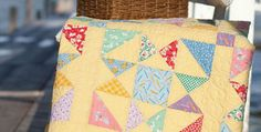 Other Fabric Styles Will be Wonderful Too! Easy star blocks in reproduction fabrics come together in a lovely quilt. The pieced border adds to its vintage charm and helps to evoke a simpler time. Soft yellow is a wonderful background for the fabrics chosen by the designer. It gives the quilt a warm and happy …
