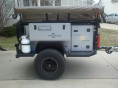 J K uploaded this image to 'Outlander trailer'. See the album on Photobucket. Off Road Utility Trailer, Off Road Camper Trailer, Camper Trailers, Travel Trailers, Expedition Trailer, Overland Trailer, Off Road Camping, Jeep Camping, Trailer Plans