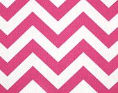 Premier Prints Fabric Zig Zag Chevron in Candy Pink and White - Half Yard. $5.00, via Etsy.