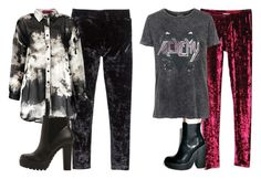 """""""velvet leggings - jesy insp"""" by littlemixmakeup ❤ liked on Polyvore featuring Steve Madden, Windsor Smith and Topshop"""