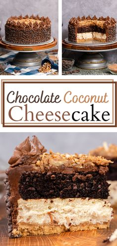 German Chocolate Cheesecake, Chocolate Cakes, Chocolate Buttercream, Mini Chocolate Chips, Coconut Cheesecake, Cheesecake Cake, Graham Cracker Crumbs, Graham Crackers, Just Desserts