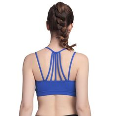 8a95cd9a165e0 Women Strappy Athleisure Yoga Sports Bra Casual Wirefree Seamless AIYIHAN  at Amazon Women s Clothing store