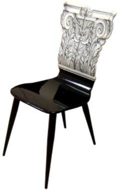85. Fornasetti Corinthian Capitello Chair  Diseñador: Piero Fornasetti