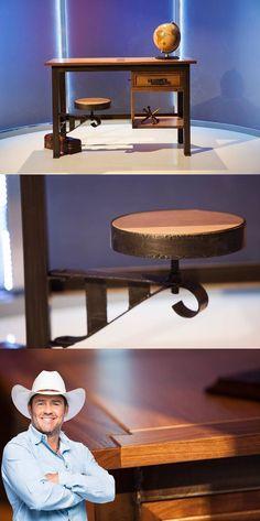 Master Craftsman Tim McClellan, made THIS on Ellen's Design Challenge, in just 48 HOURS!!! Western Heritage Furniture, Inc. http://westernheritagefurniture.com