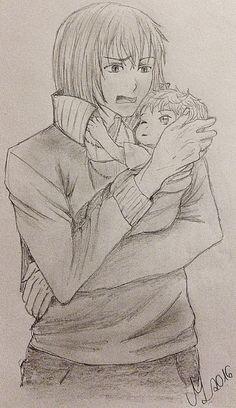 Castiel sendo pai