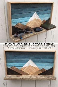 This shelf is a combination of two of our best selling pieces - our mountain ranges and our mountain shelves! It also combines style and function for a unique piece of wall art.