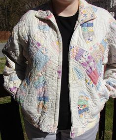 Vintage Double Wedding Ring Pattern Quilted by apairofsquirrels, $48.00