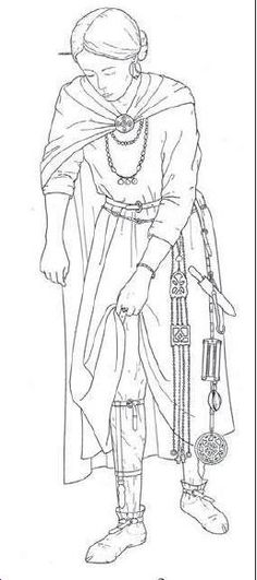 A reconstruction of seventh-century Alemannic female attire