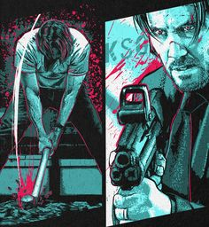 John Wick Hd, John Wick Movie, Keanu Reeves John Wick, Keanu Charles Reeves, Film Movie, John Wick Tattoo, Comic Books Art, Comic Art, Creation Art