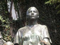 La Malinche, as part of the Monumento al Mestizaje in Mexico City. She was a Nahua woman from the Mexican Gulf Coast, who played a role in the Spanish conquest of the Aztec Empire, acting as an interpreter, advisor, lover, and intermediary for Hernán Cortés. She was one of twenty women slaves given to the Spaniards by the natives of Tabasco in 1519