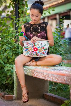 The colorful clutch you'll want to carry every day. #etsy