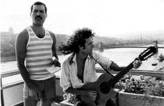 QUEEN | Freddie Mercury and Brian May in Budapest 1986. view on FB https://www.facebook.com/BudapestPocketGuide photo: Queen Poland #Budapest